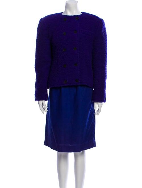 Lanvin Linen Skirt Suit Purple