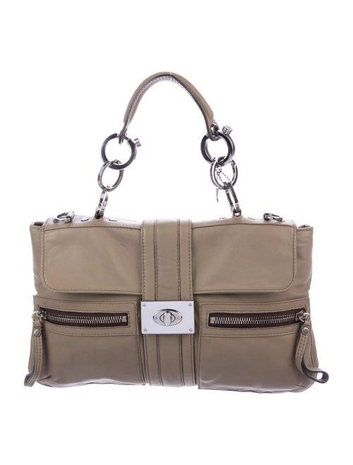 Lanvin Soft Leather Satchel Silver