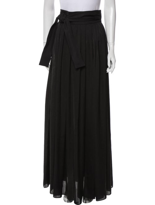 Lanvin Pleated Accents Long Skirt Black