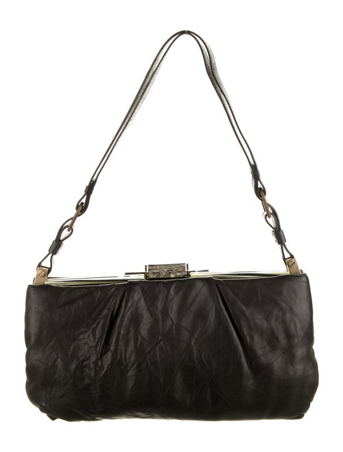 Lanvin Leather Shoulder Bag Black