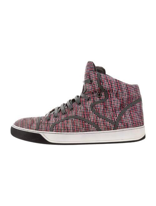 Lanvin Printed Sneakers Red