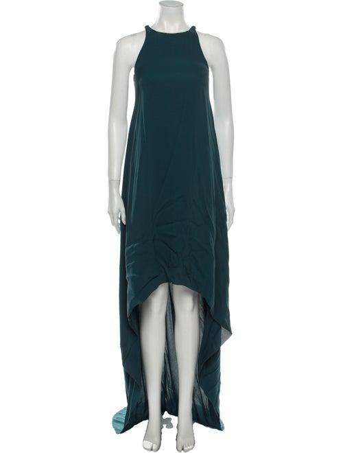 Lanvin 2007 Long Dress Green