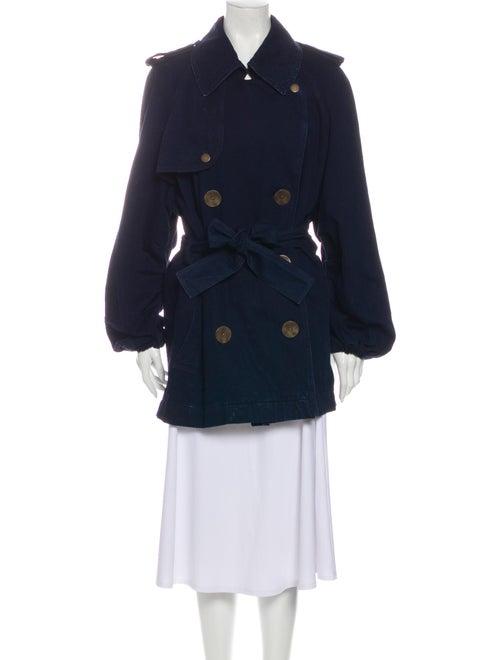 Lanvin Trench Coat Blue