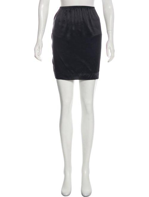 Lanvin Silk Slip Skirt Black