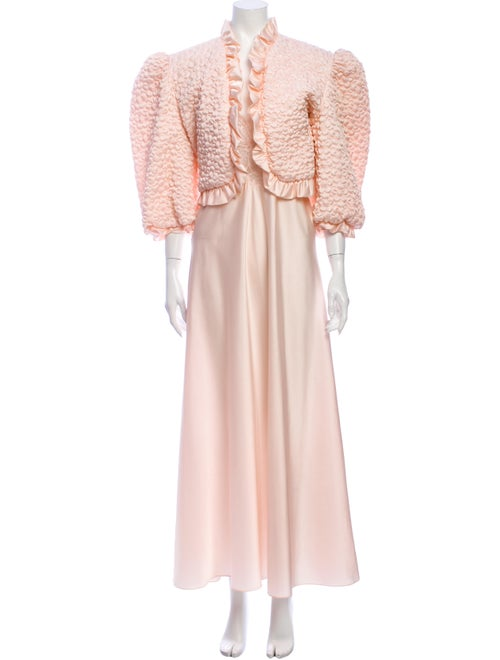 Lanvin Vintage 1980's Dress Set Pink