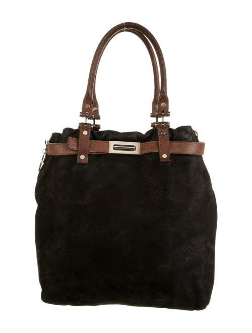 Lanvin Leather Belted Tote Black