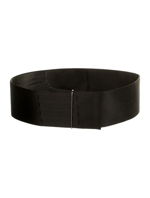 Lanvin Satin Waist Belt Black
