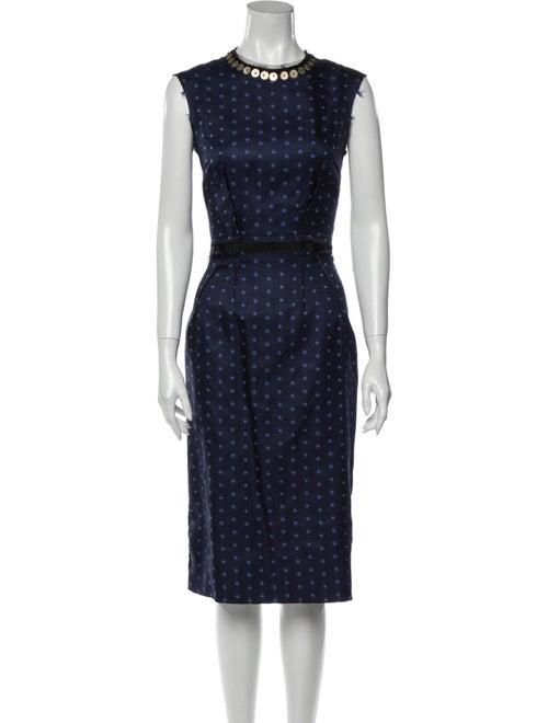 Lanvin 2005 Midi Length Dress Blue
