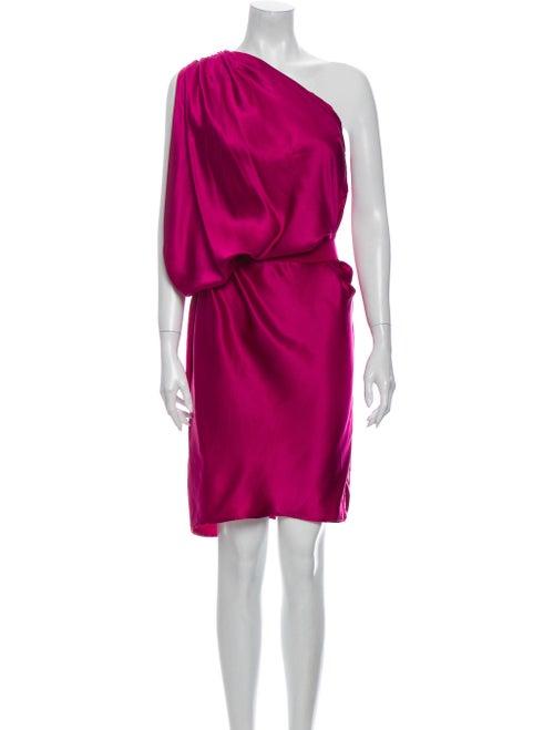 Lanvin Silk Knee-Length Dress Purple