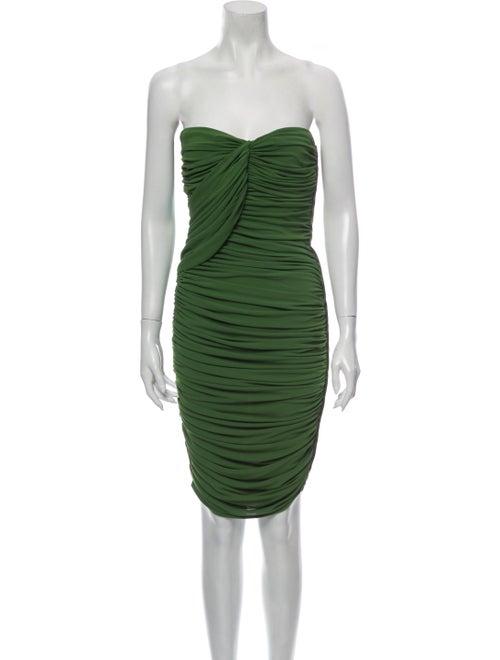 Lanvin Strapless Mini Dress Green