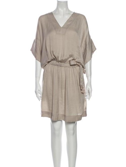 Lanvin V-Neck Knee-Length Dress