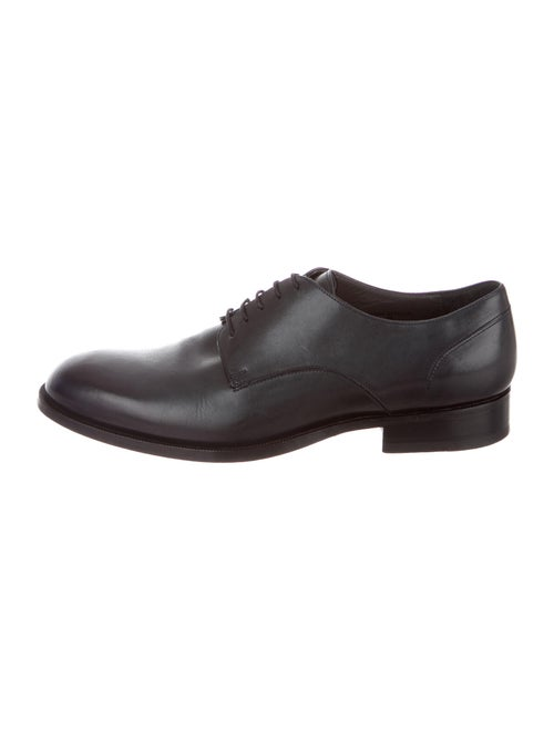 Lanvin Leather Derby Shoes Blue