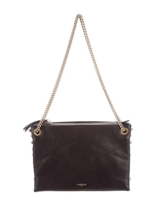 Lanvin Leather Shoulder Bag Black