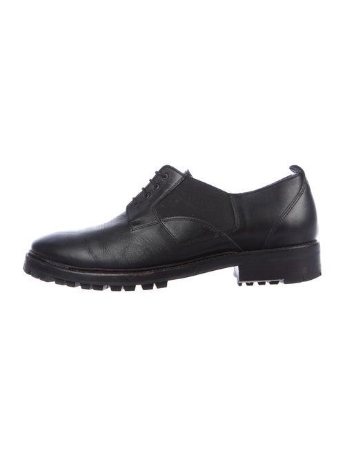 Lanvin Leather Derby Shoes Black