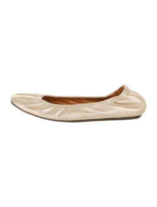 Lanvin Leather Ballet Flats Gold
