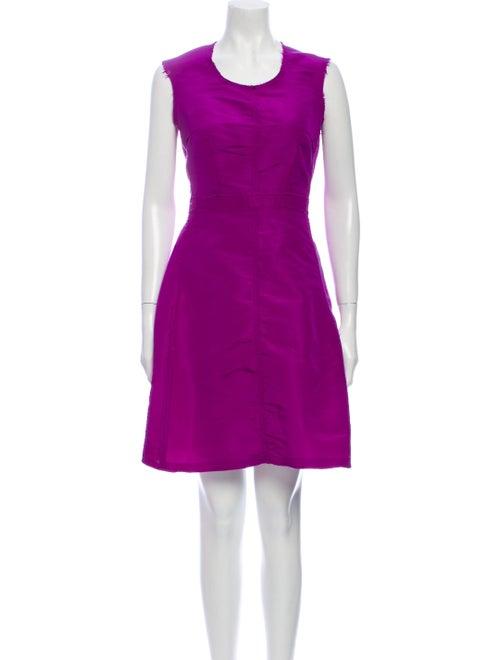 Lanvin Silk Mini Dress Purple