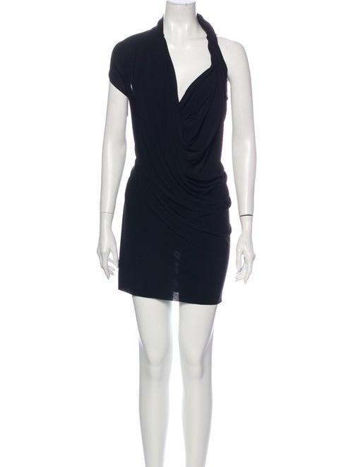 Lanvin Asymmetrical Mini Dress Black