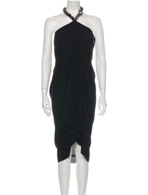 Lanvin Silk Long Dress Black