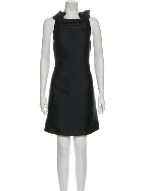 Lanvin Cowl Neck Mini Dress Black