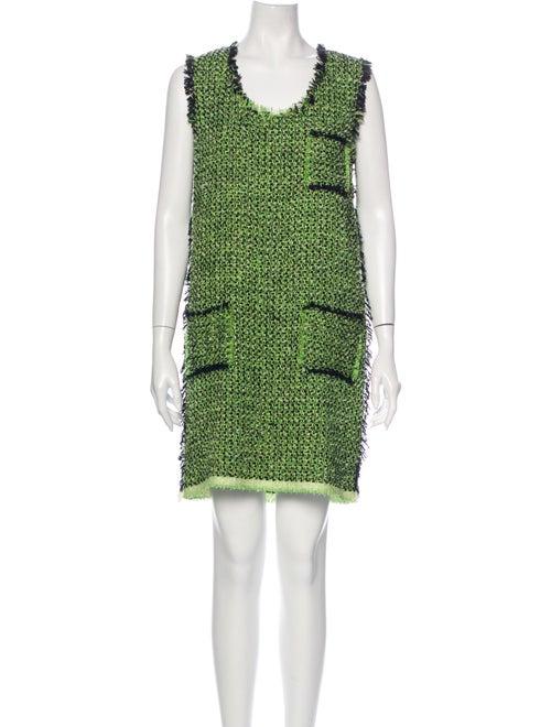 Lanvin 2012 Mini Dress Green