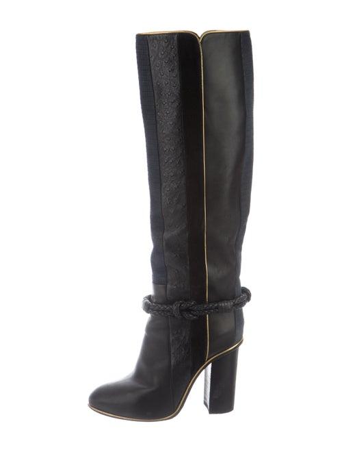 Lanvin Ostrich Boots Black