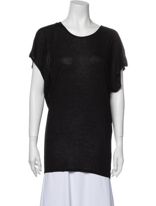Lanvin Scoop Neck Short Sleeve T-Shirt Black