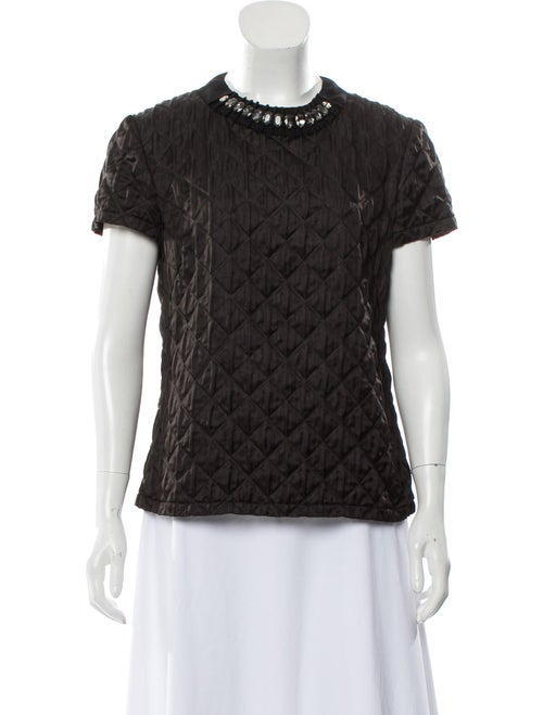 Lanvin Embellished Quilted Top Black