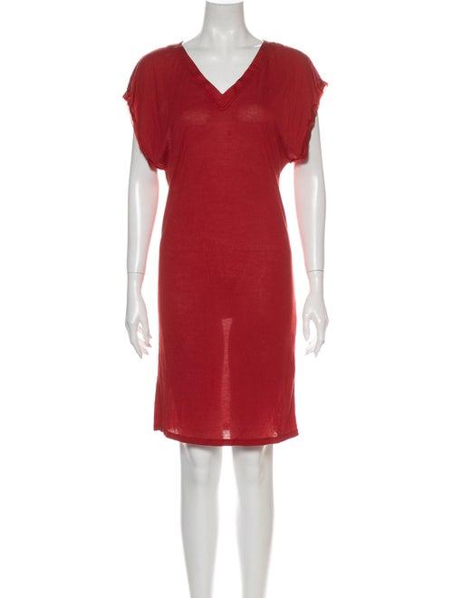 Lanvin Silk Mini Dress Red