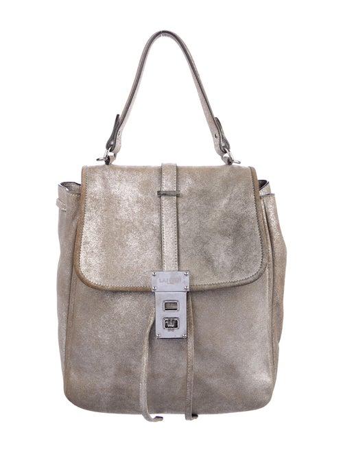 Lanvin Leather Messenger Bag Metallic