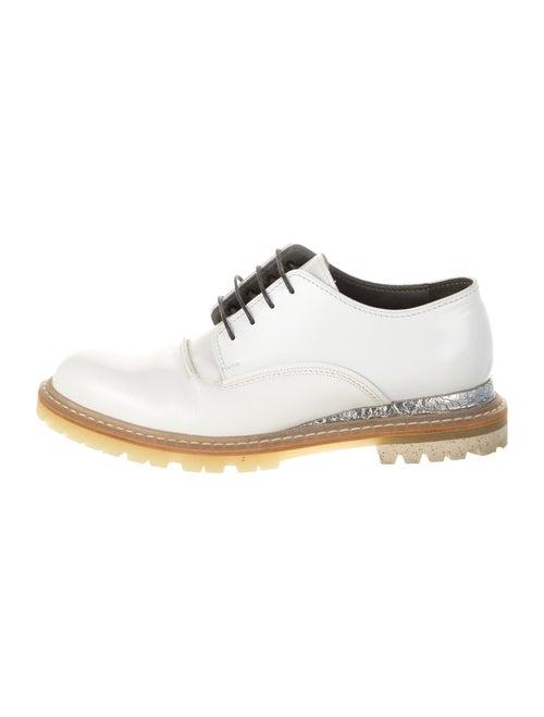Lanvin Leather Derby Shoes White