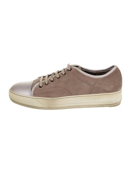 Lanvin Suede Low-Top Sneakers Mauve