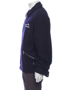 Lanvin Wool Graphic Print Bomber Jacket