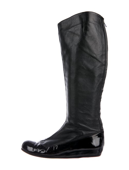 Lanvin Leather Riding Boots Black