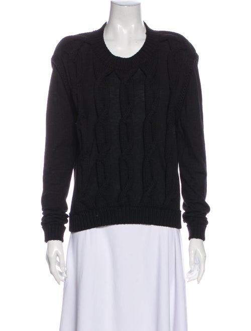 Lanvin Crew Neck Sweater Black