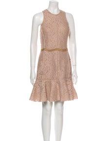 Lanvin Lace Pattern Mini Dress