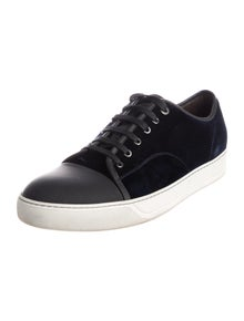 Lanvin Leather Trim Embellishment Sneakers