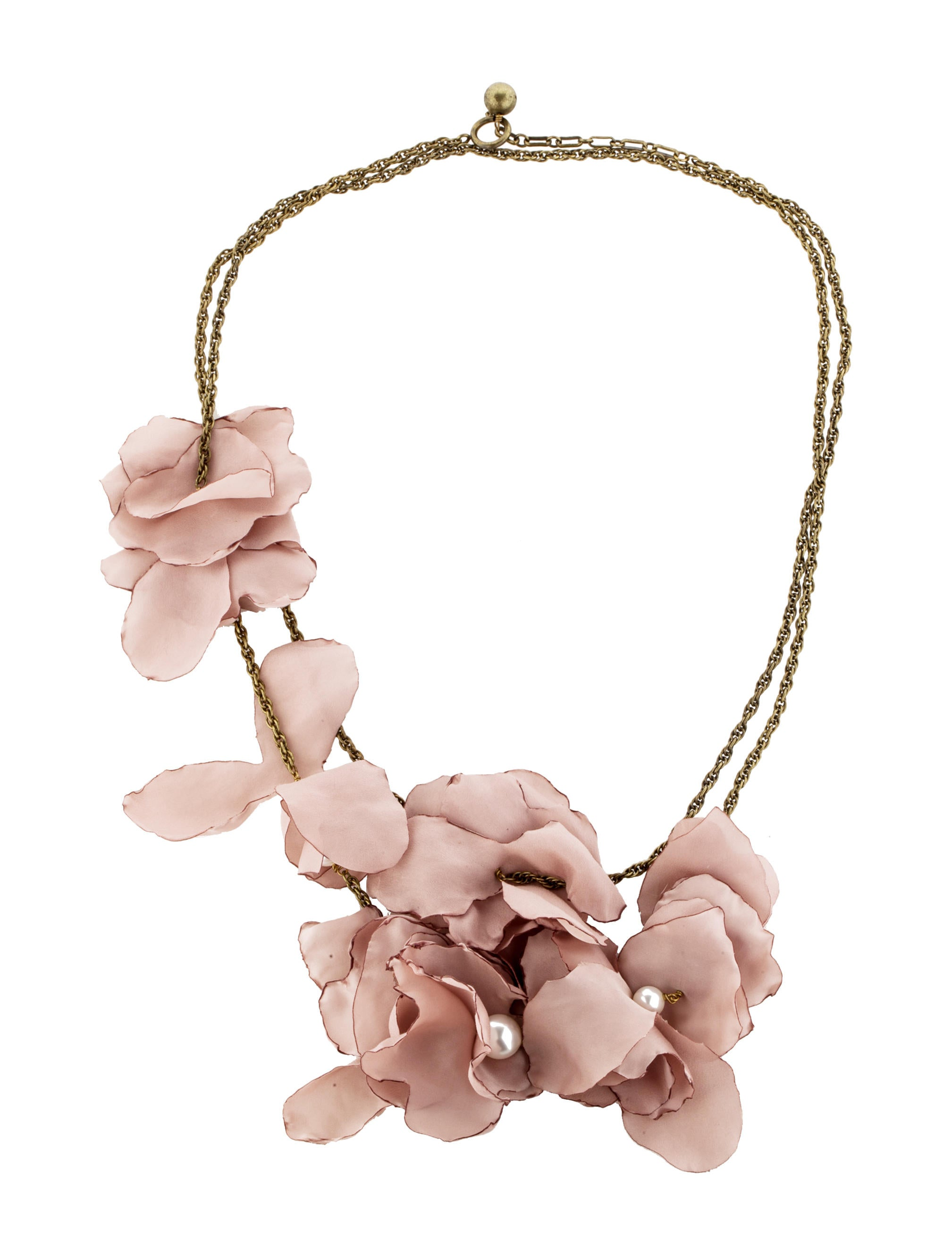 Lanvin Silk Flower Necklace Necklaces Lan27794 The Realreal