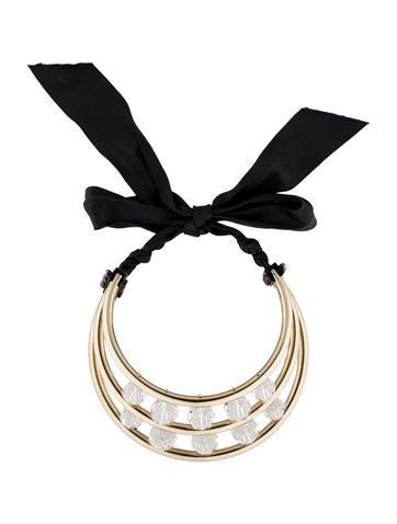Crystal Three-Bar Choker Necklace