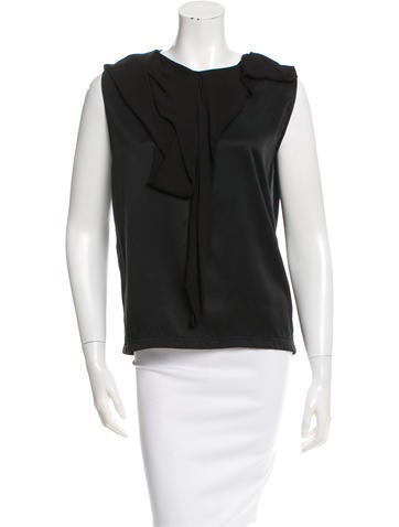 Lanvin Sleeveless Ruched Top