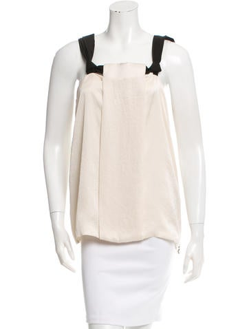 Lanvin Sleeveless Paneled Top None