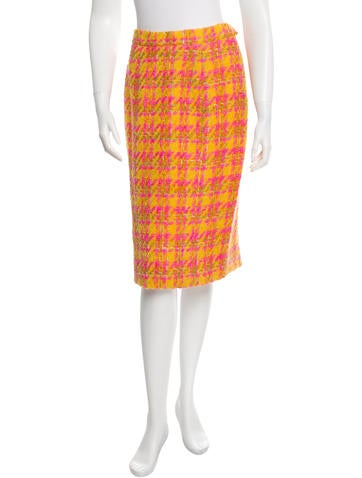 Lanvin Wool Patterned Skirt