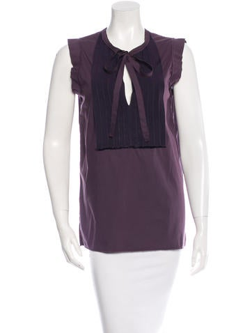 Lanvin Sleeveless V-Neck Top None