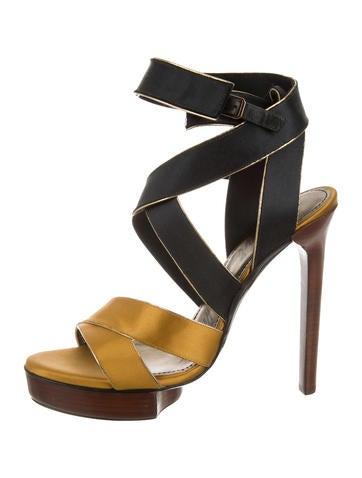Satin Platform Sandals