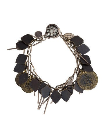 Two-Tone Charm Bracelet