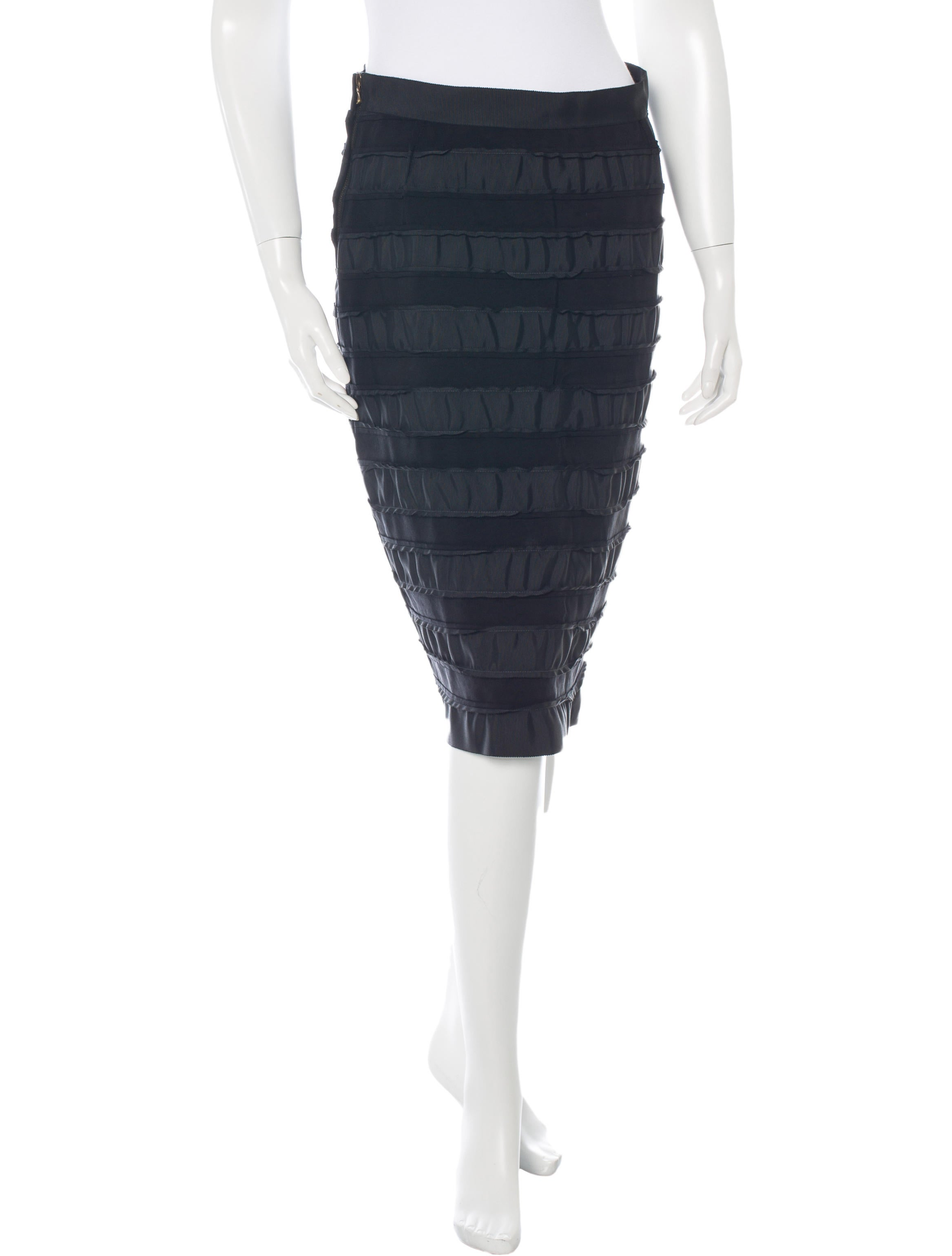 lanvin tiered pencil skirt clothing lan44522 the