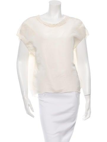Lanvin Oversize Silk Top None