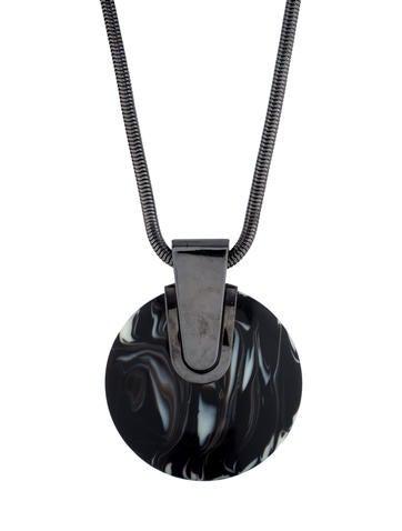 Lanvin Large Resin Pendant Necklace