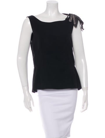 Lanvin Sleeveless Wool Top None