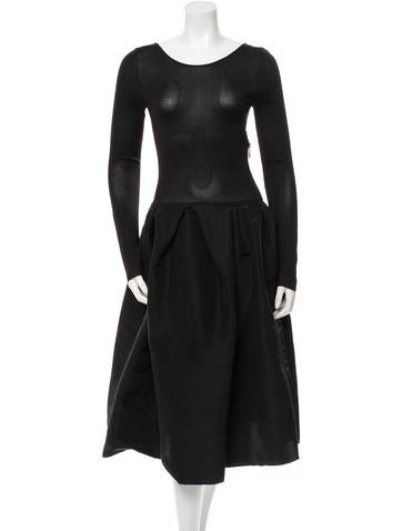 Lanvin Silk Midi Dress None