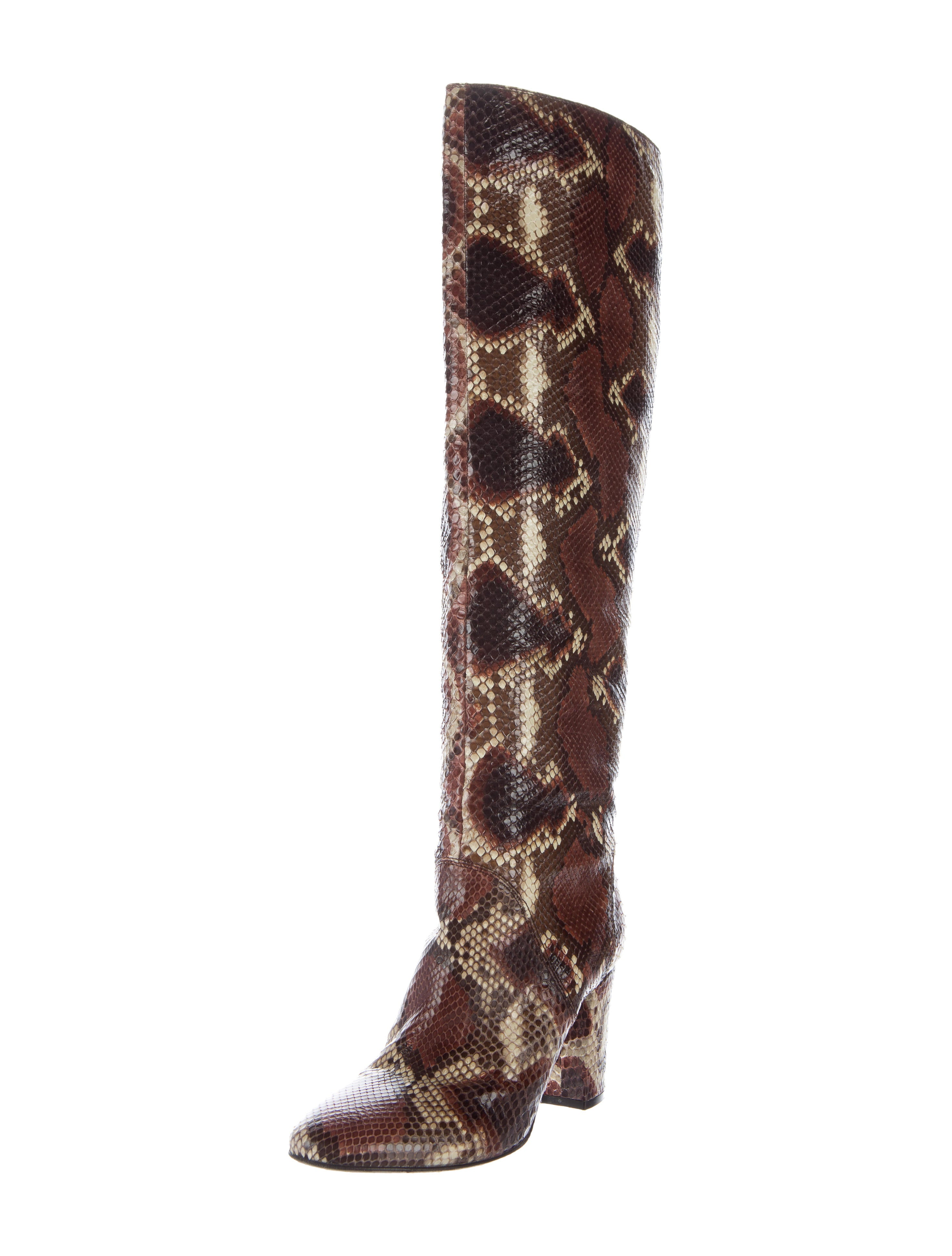 Lanvin Python Knee High Boots Shoes Lan45345 The